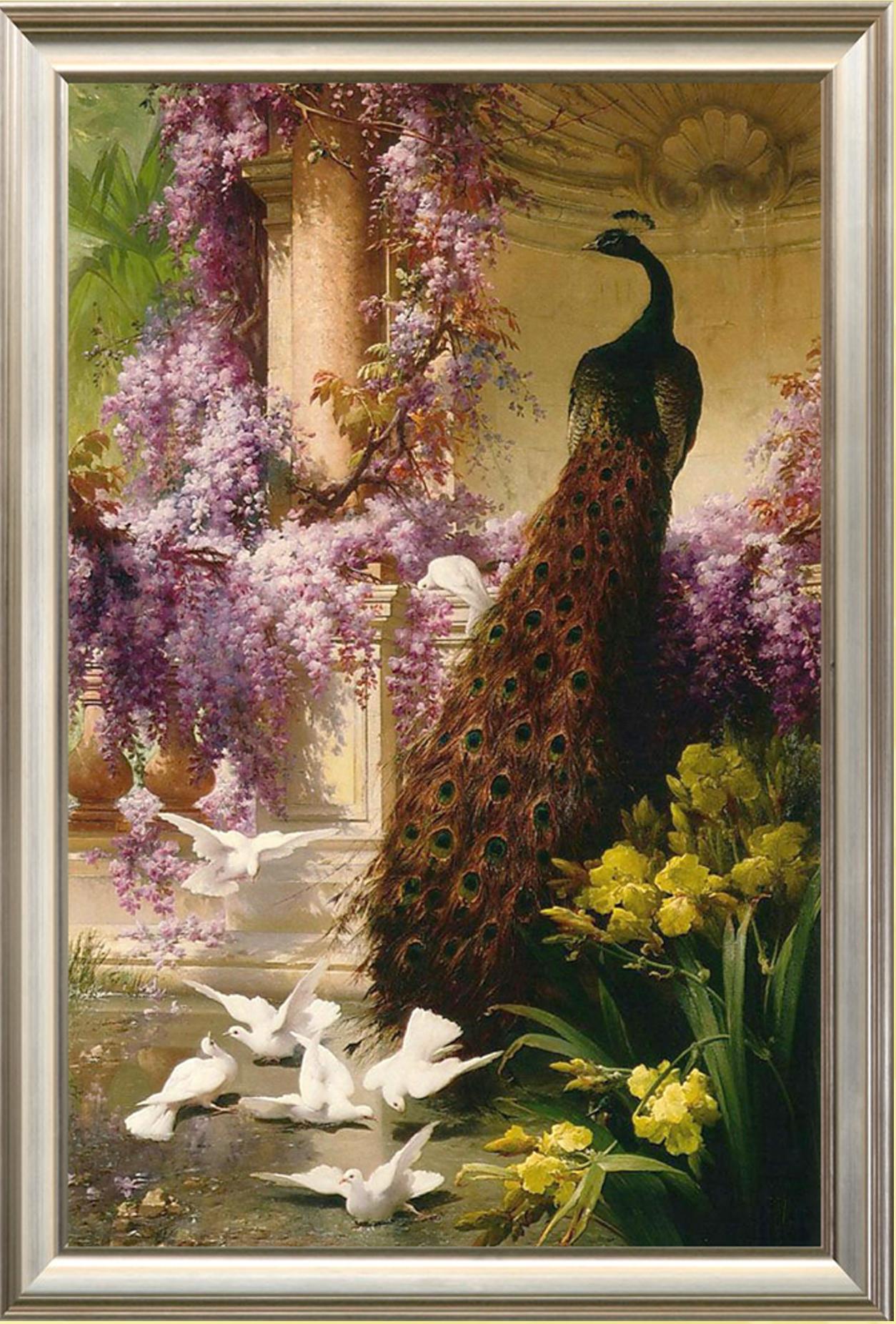 персидский сад схема вышивки