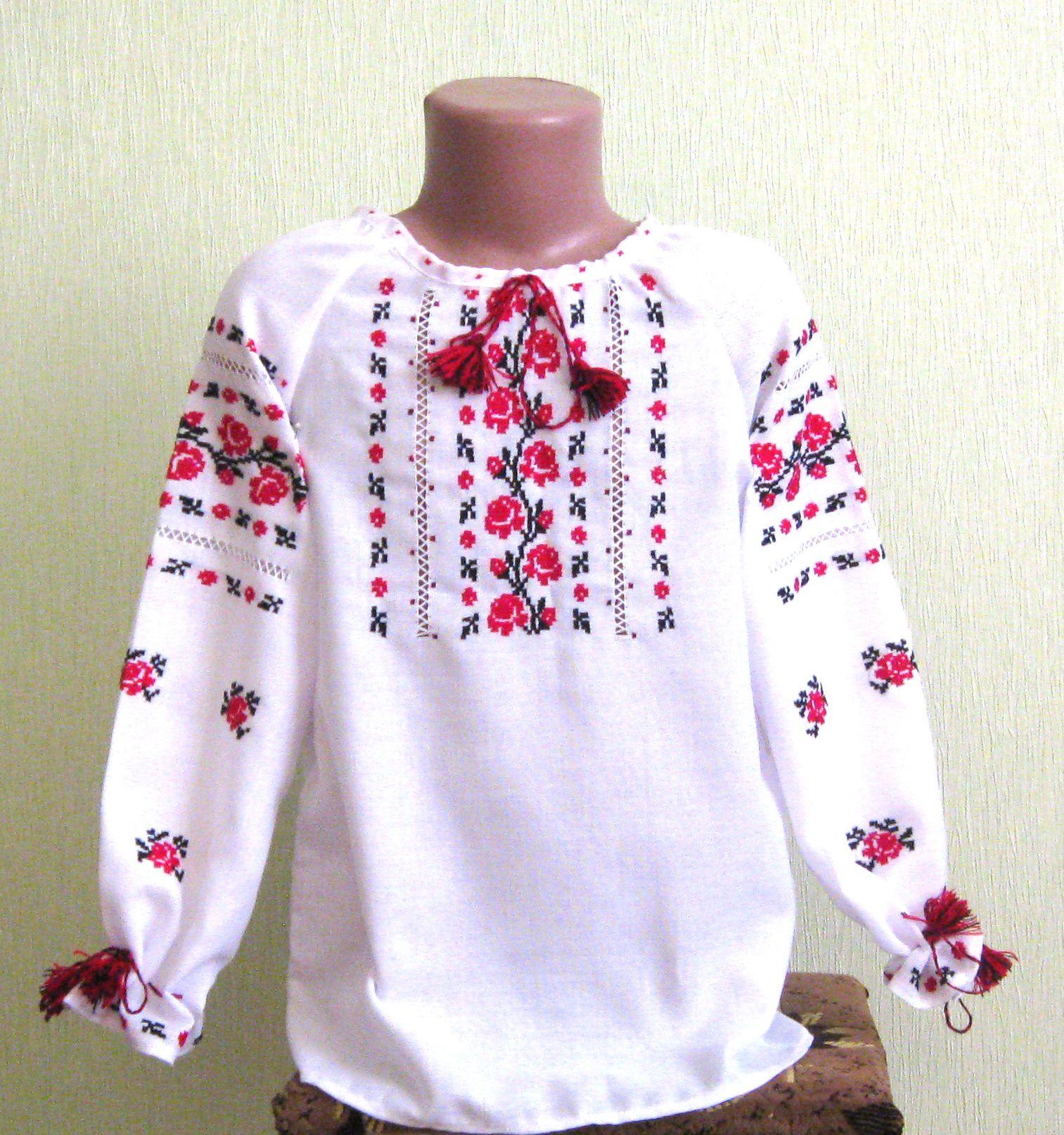 Вишиванка для дівчинки з трояндами ручної роботи ціна 57ca9c9470837
