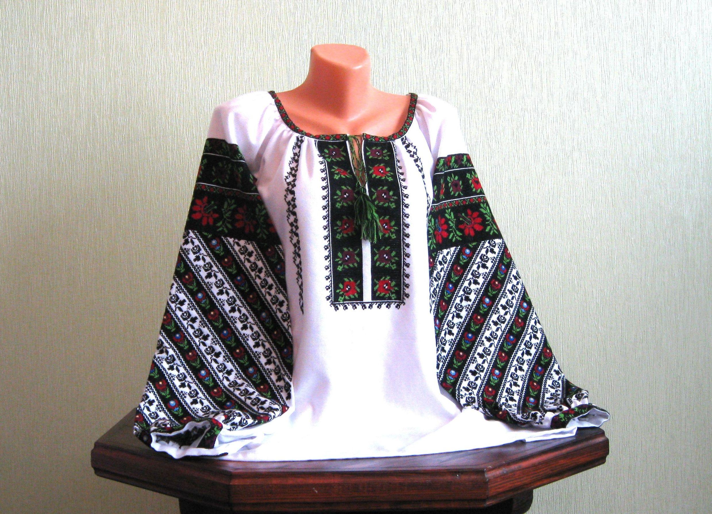 Вишита сорочка жіноча ручної роботи з багатим борщівським взором ... d176d967841f3