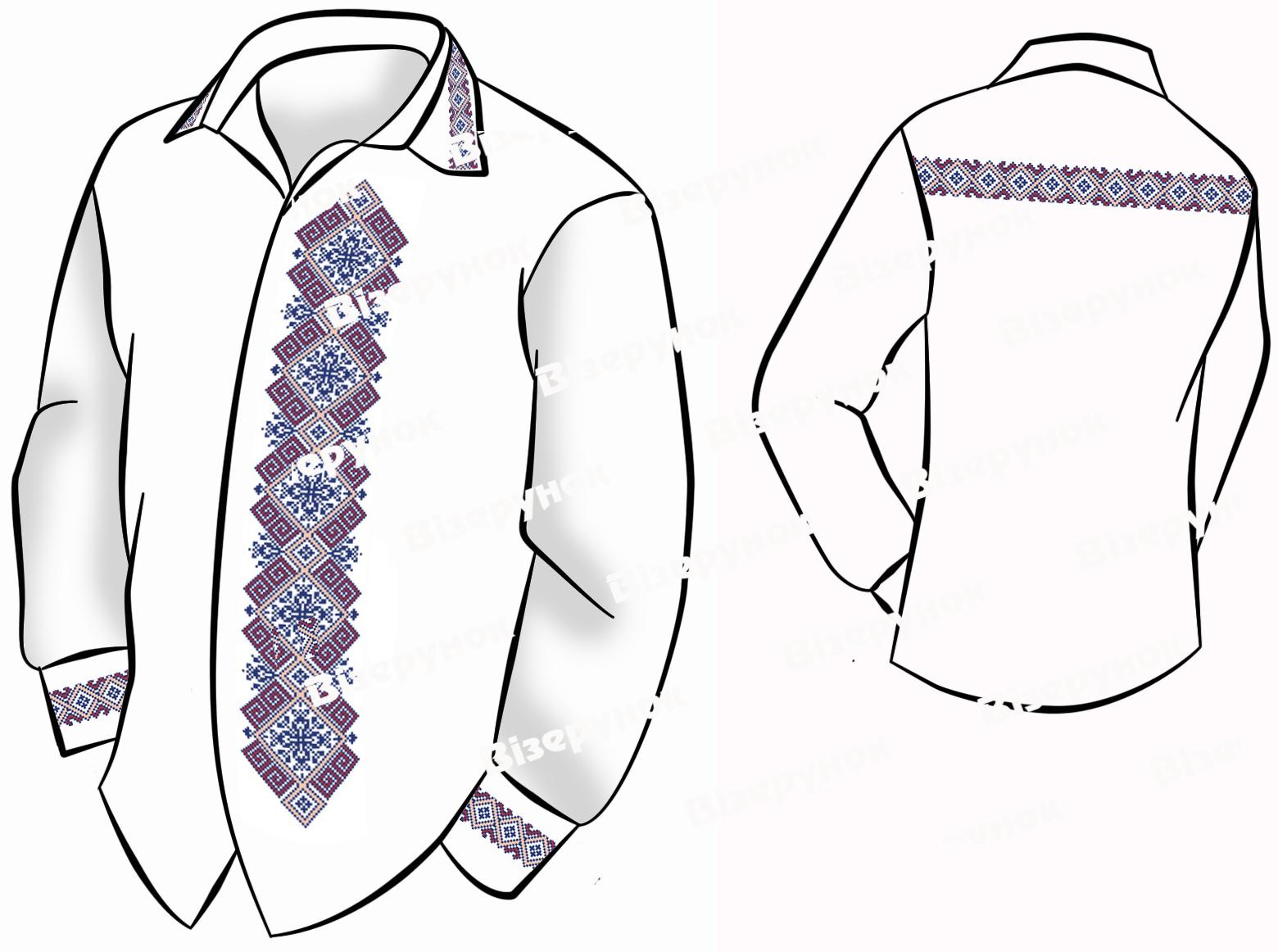 Заготовка для вишивки чоловічих сорочок ВЧ -53 - Товари - Схеми для ... c55e556e9f64c