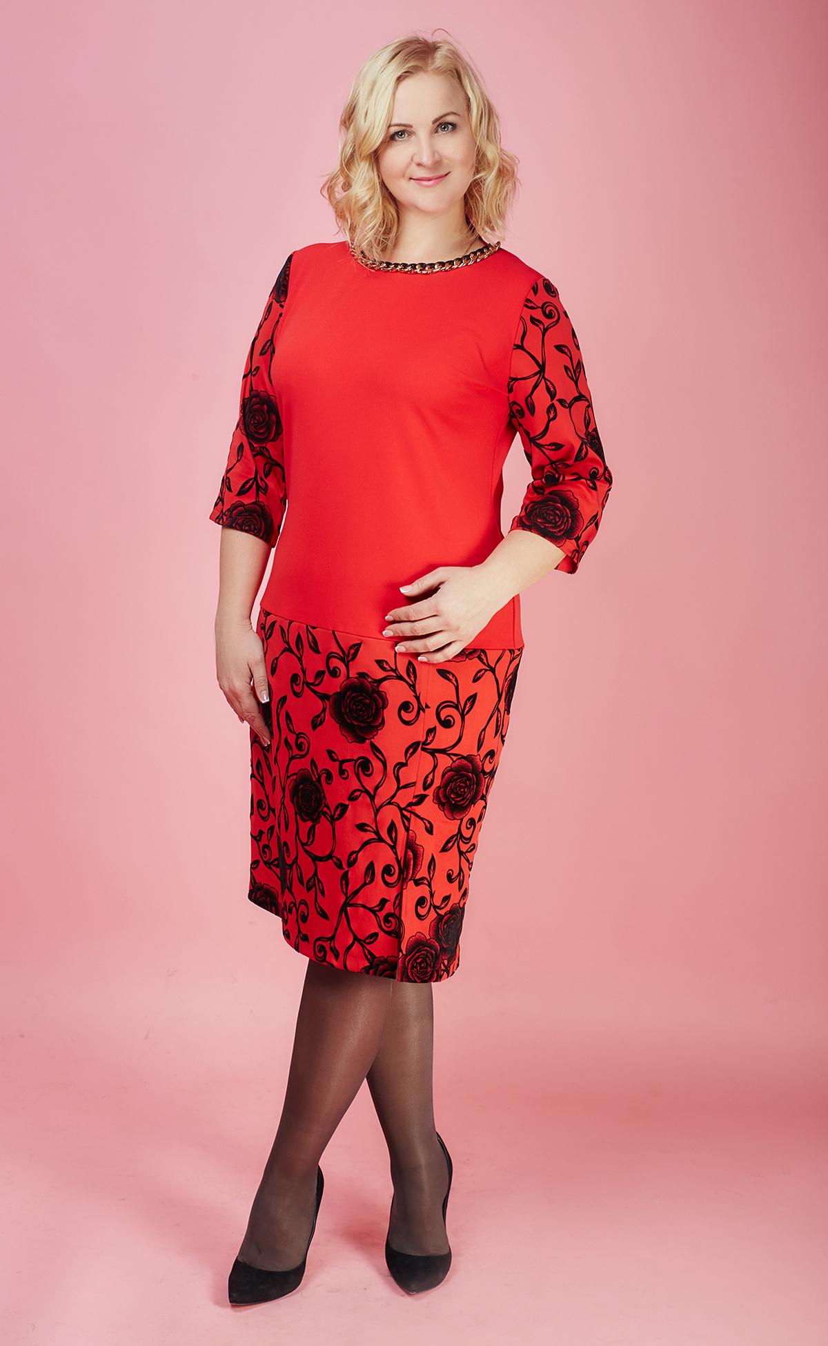 Жіноче плаття великих розмірів 794-1 - Товари - Купити стильні сукні ... 02fd6bf087da1