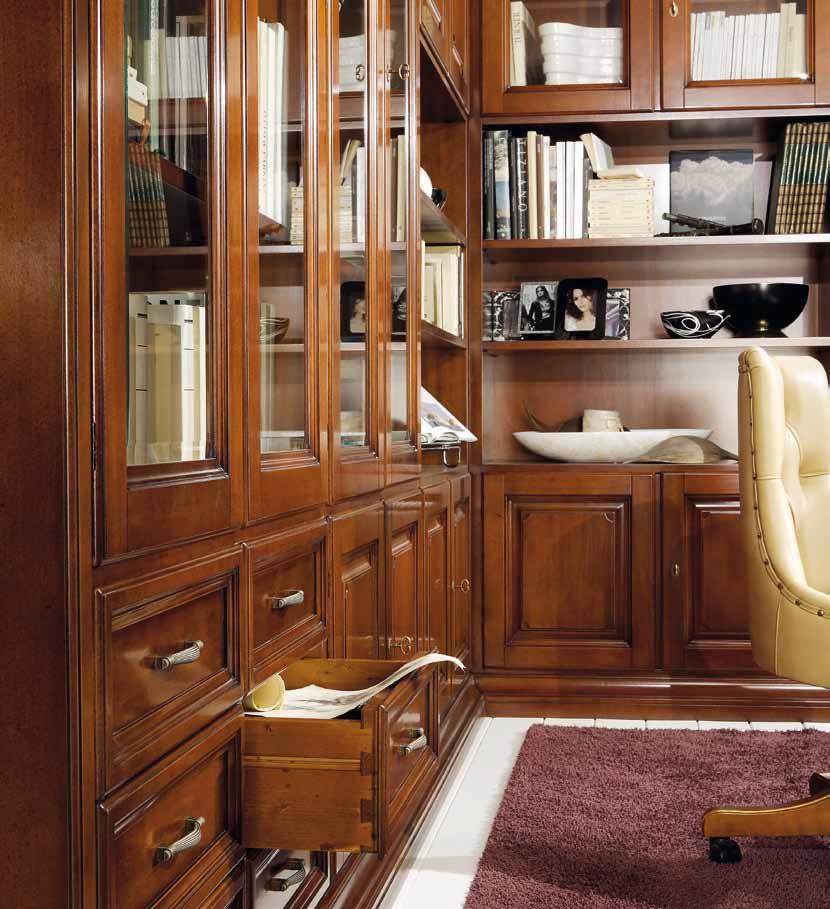 Кабинет (гарнитур для кабинета) с угловым модульным шкафом и.