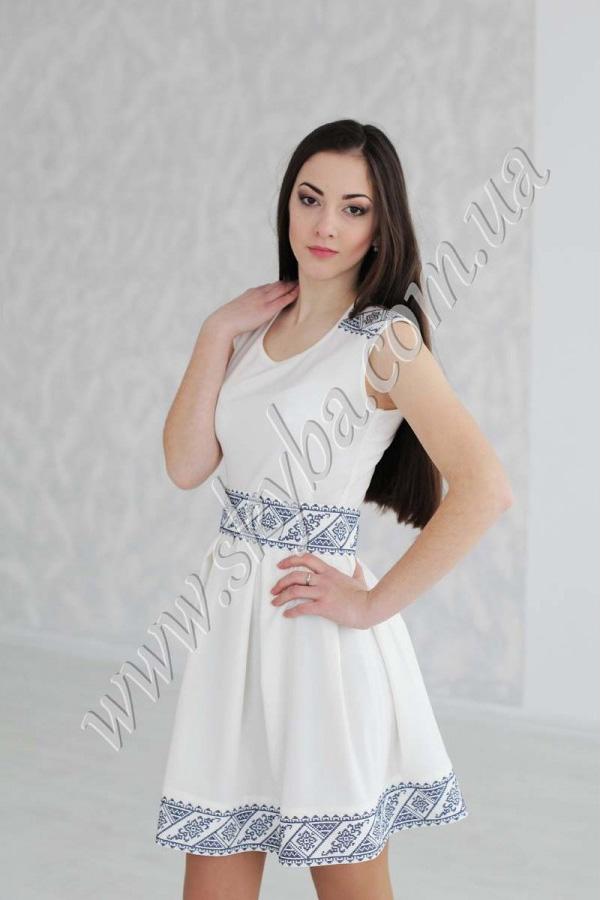 bf7bbc72c817ef Жіноча сукня СК6332 з геометричною вишивкою. loading... Наведіть курсор,  щоб збільшити