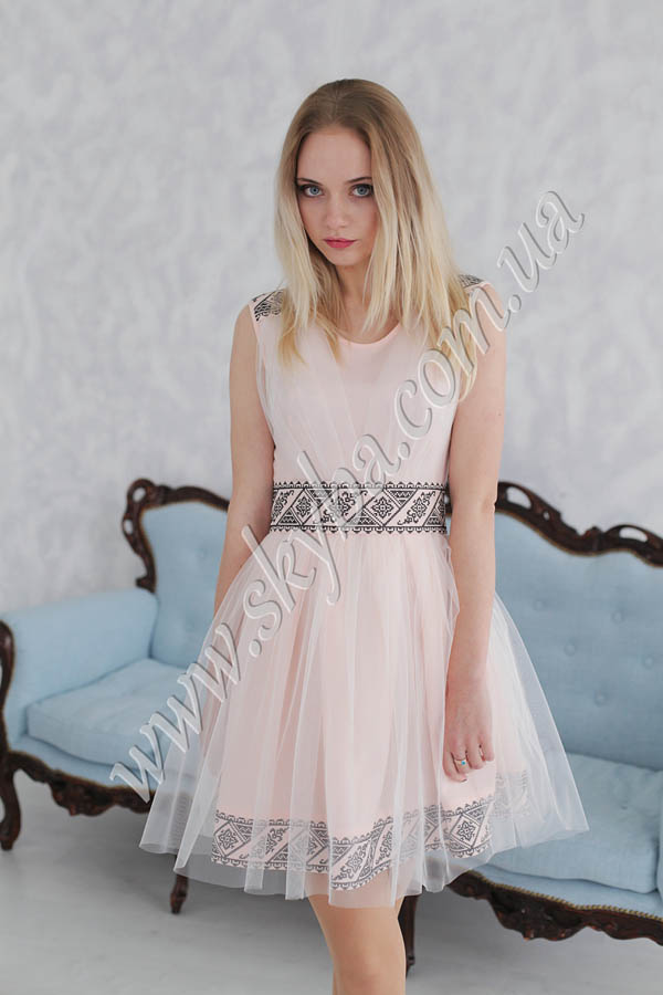 Жіноча сукня СК6331 з спідничкою з фатіну c57049ff446a0