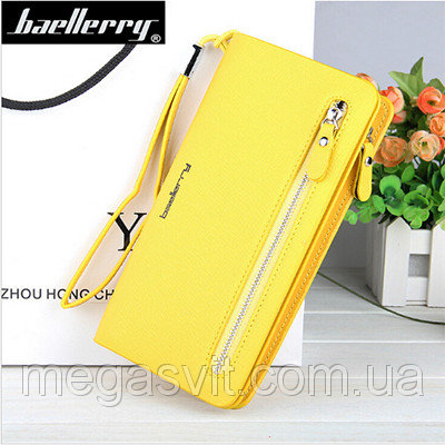 0669840f1204 Желтый женский кошелек клатч Baellerry Italia Classic (портмоне Баелери  Италия Класик)