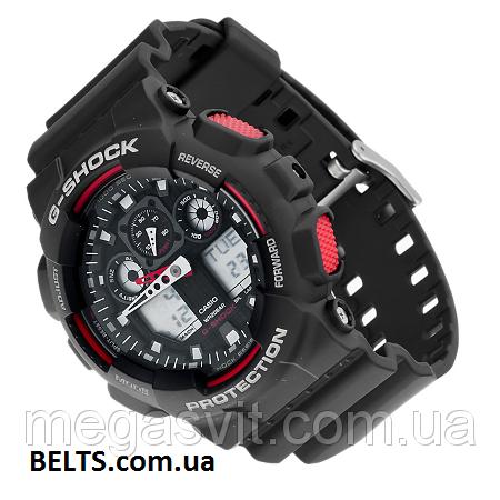 Спортивний чоловічий наручний годинник Casio G - Shock (Касио Джи Шок) -  чорно-червоні 53d3acb7b60e5