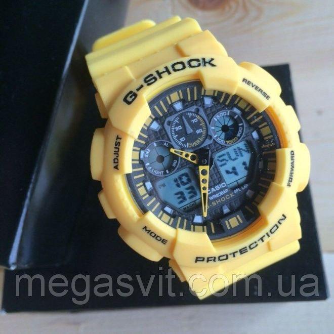 Чоловічий наручний годинник Casio G - Shock (Касио Джи Шок) - жовті ... 73ae14f9a528f