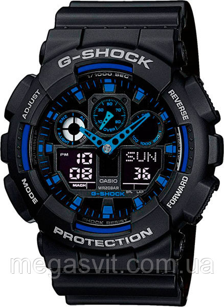 Чоловічий годинник Casio G - Shock (Касио Джи Шок) - чорно-сині ціна ... 57ea3eb5b4453