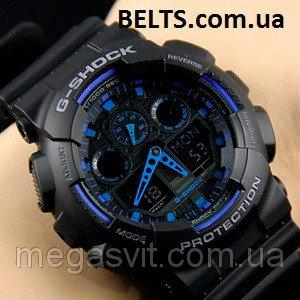 Чоловічий наручний годинник Casio G - Shock (Касио Джи Шок) - чорно-сині cf8d9fba309cc