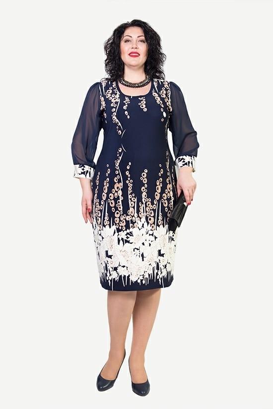 Жіноче плаття великих розмірів Лілія - Товари - Купити стильні сукні ... a8a0636d61a80