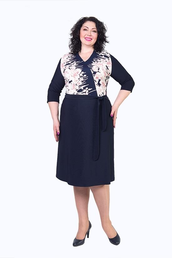 Жіноче плаття великих розмірів Любава - Товари - Купити стильні ... 85eb84fb8a9a6