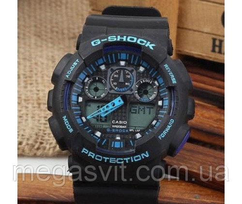 Наручний годинник Casio G - Shock (Касио Джи Шок) - чорно-сині ціна ... efd8c0a9259d5