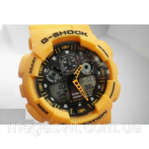 Спортивний чоловічий годинник Casio G - Shock жовті ціна ca9e475c281ba