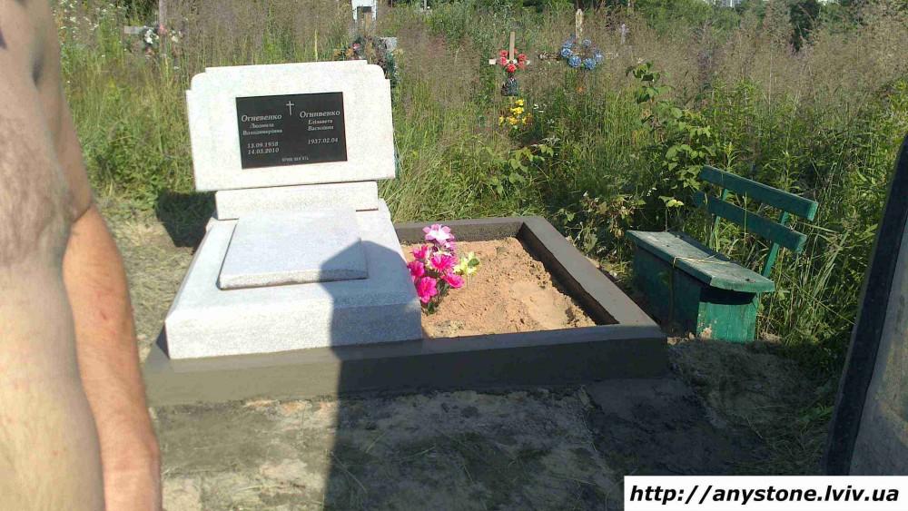 Надгробие из крошки Резные памятники Городище