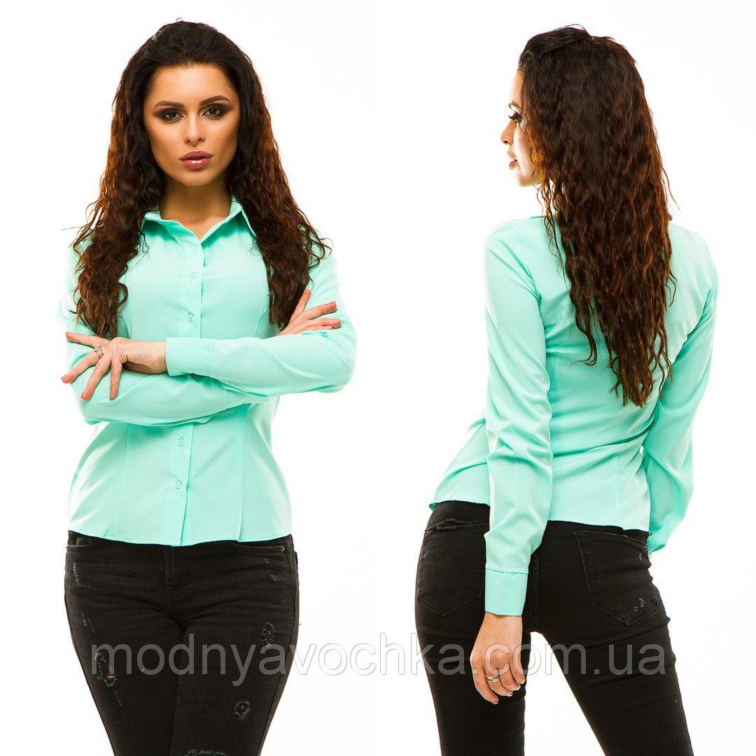 Жіноча сорочка приємного забарвлення з довгим рукавом - Товари ... c976e78eda4b7