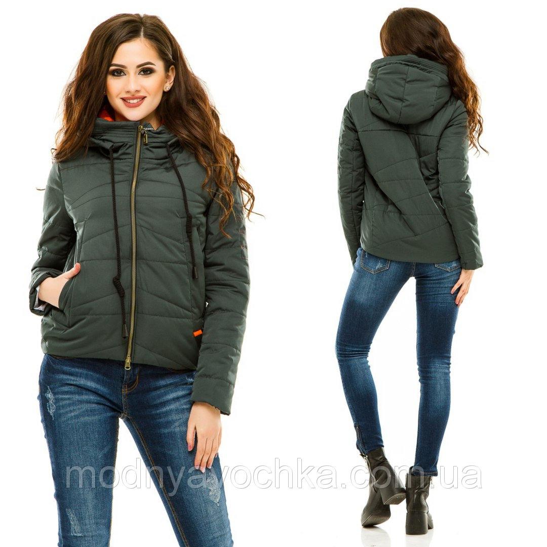 Жіноча куртка на весну з ушитим капюшоном - Товари - Інтернет ... 3b3dd6c77f9ac