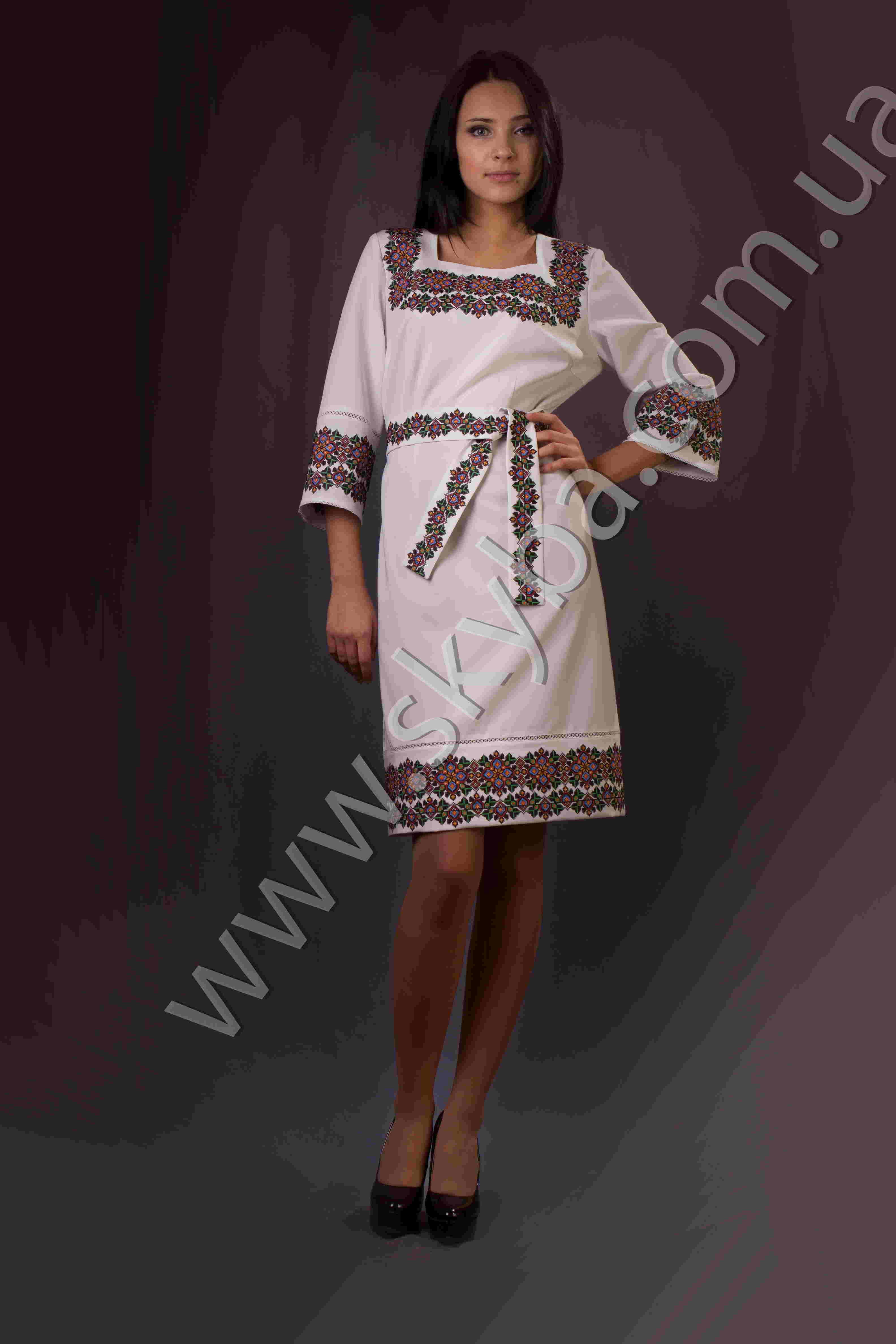Вишиванка жіноча плаття ck6031
