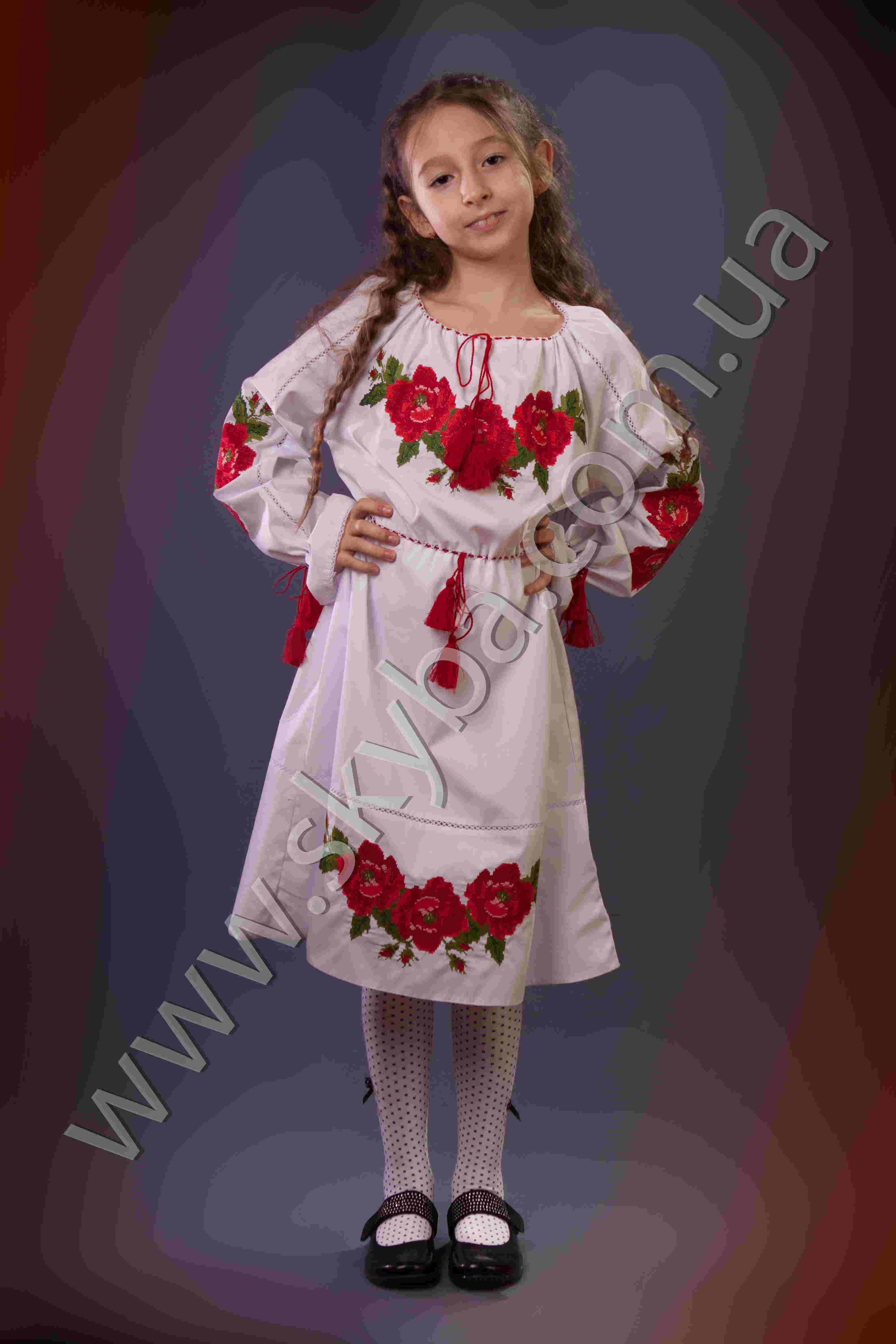 220a839c312232d Украинская вышиванка, платье для девочки, 2 элемента по низу CK4042 ...