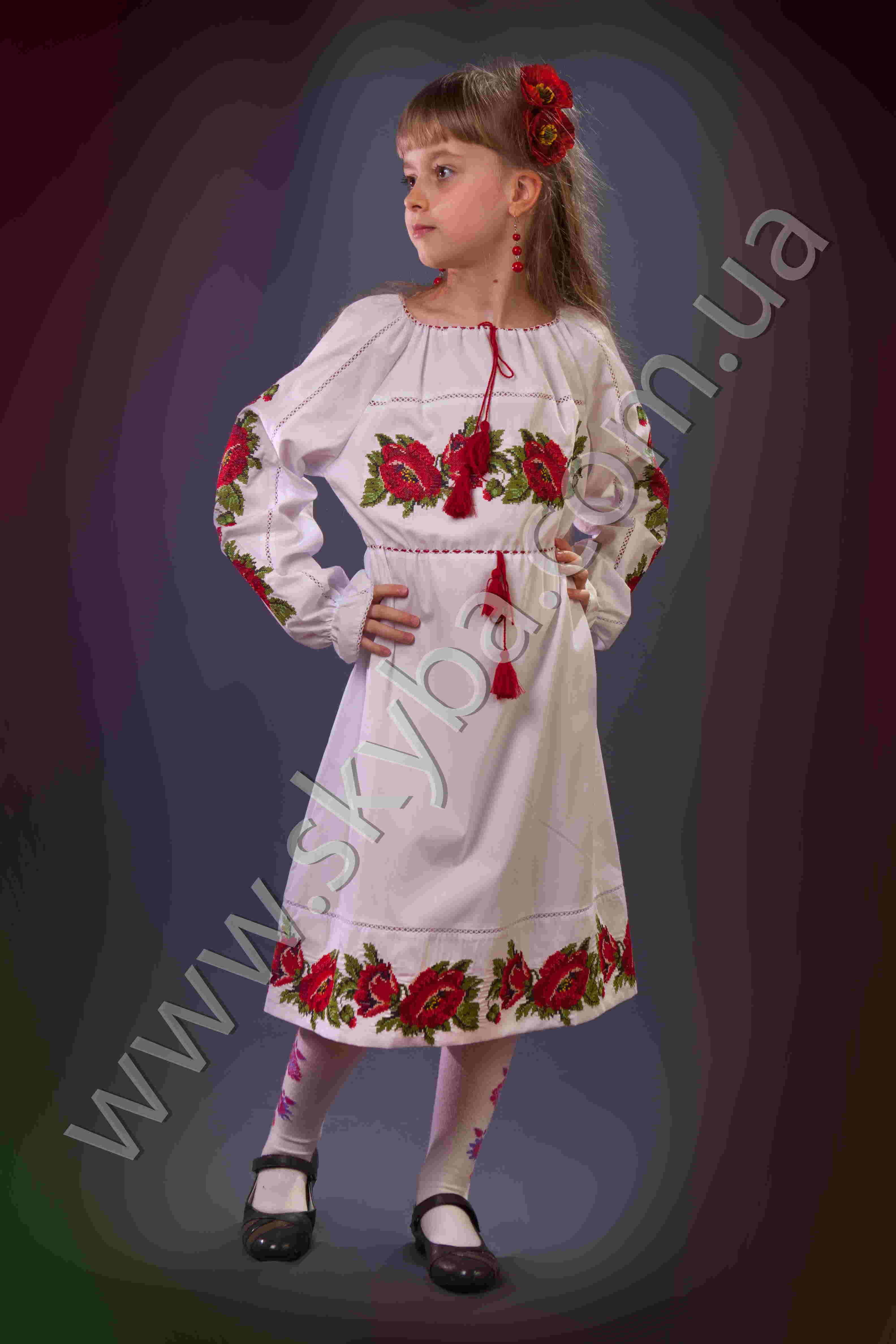 Платья вышиванки для девочек 10 лет