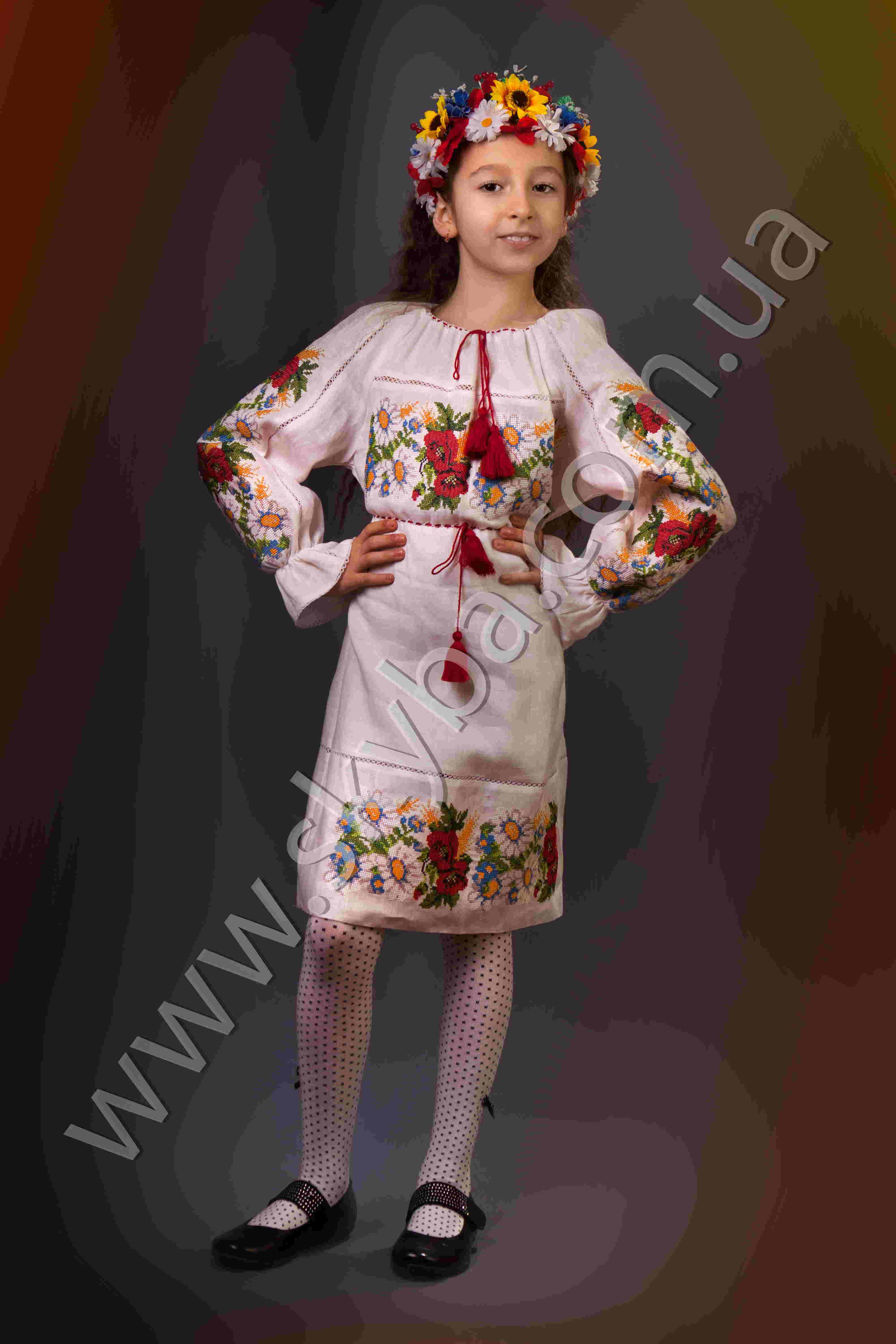 0b50145d5f1eab6 Украинская вышиванка, платье для девочки СК4122 - Товары ...