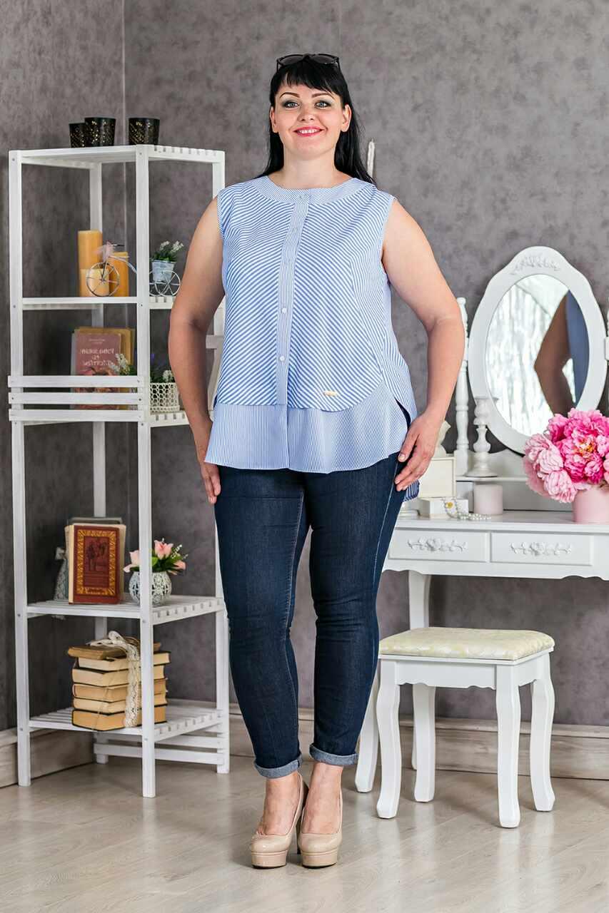 Женская блузка в полоску купить