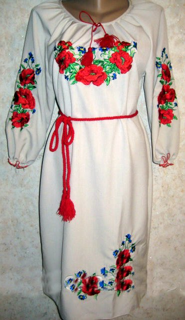 Вишиванка-плаття жіноча Маки і волошки - Товари - Купити стильні ... 3dbb793009fc4