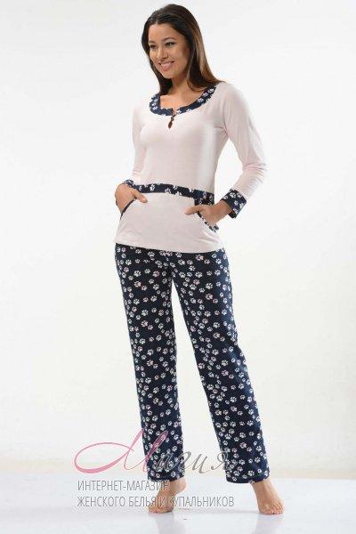 Стильная пижама из хлопка с длинным рукавом - Товары - Жіноча ... 4eab4f055f625