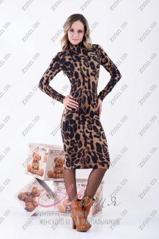 3c73a54430b Леопардовое платье средней длины цена