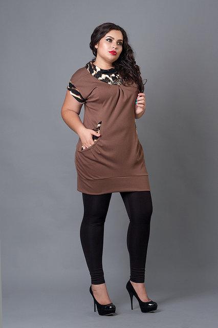 Жіноча туніка великого розміру 211 - Товари - Купити стильні сукні ... 33cf020312e20