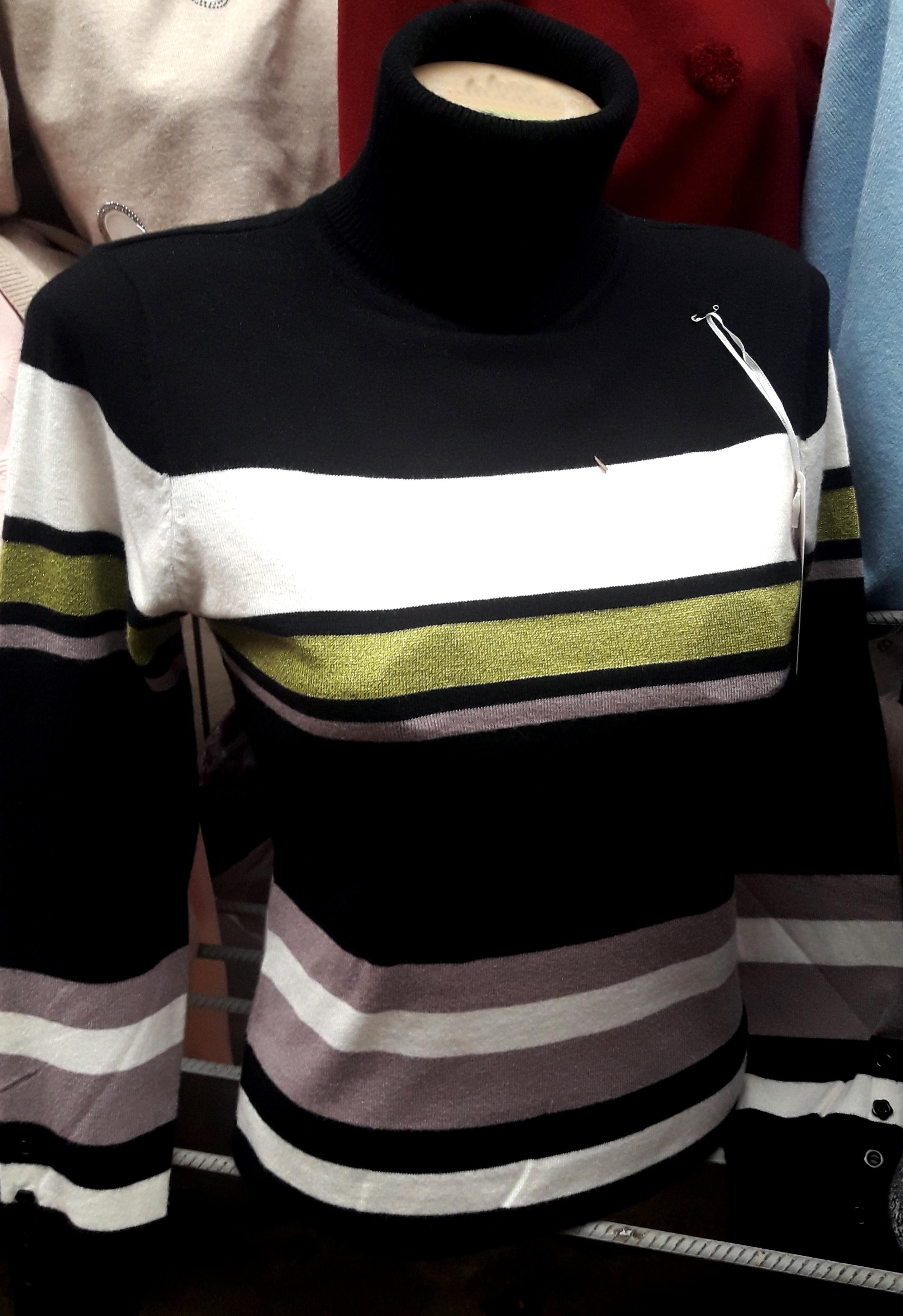 Женский теплый свитер в полоску Турция цена d883c10d2c5d0
