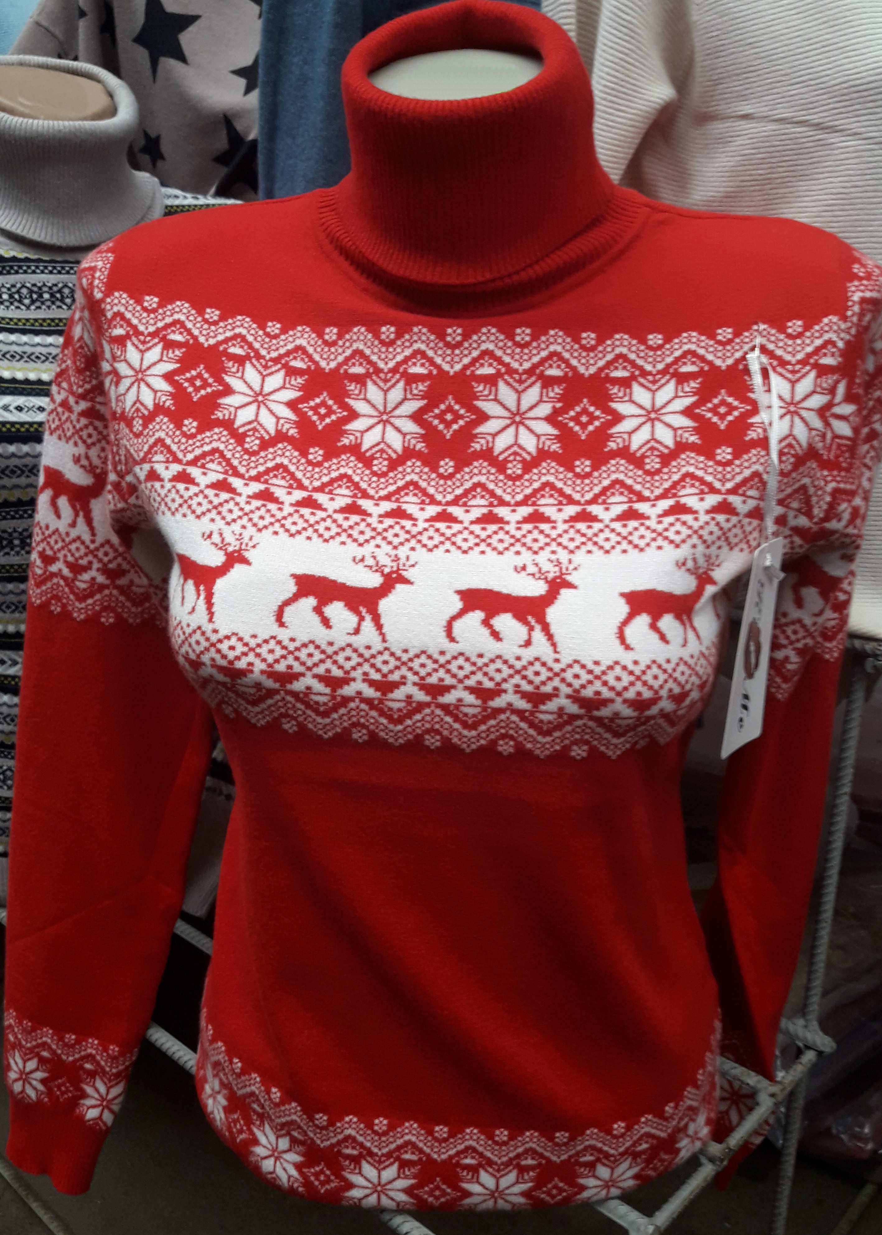 Жіночий теплий светр з оленями Туреччина ціна 717255723478e