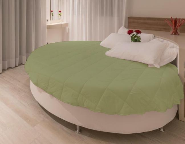 Покривало на кругле ліжко модель 1 Олива - Товари - Елітна постільна ... 8365e48592dd5