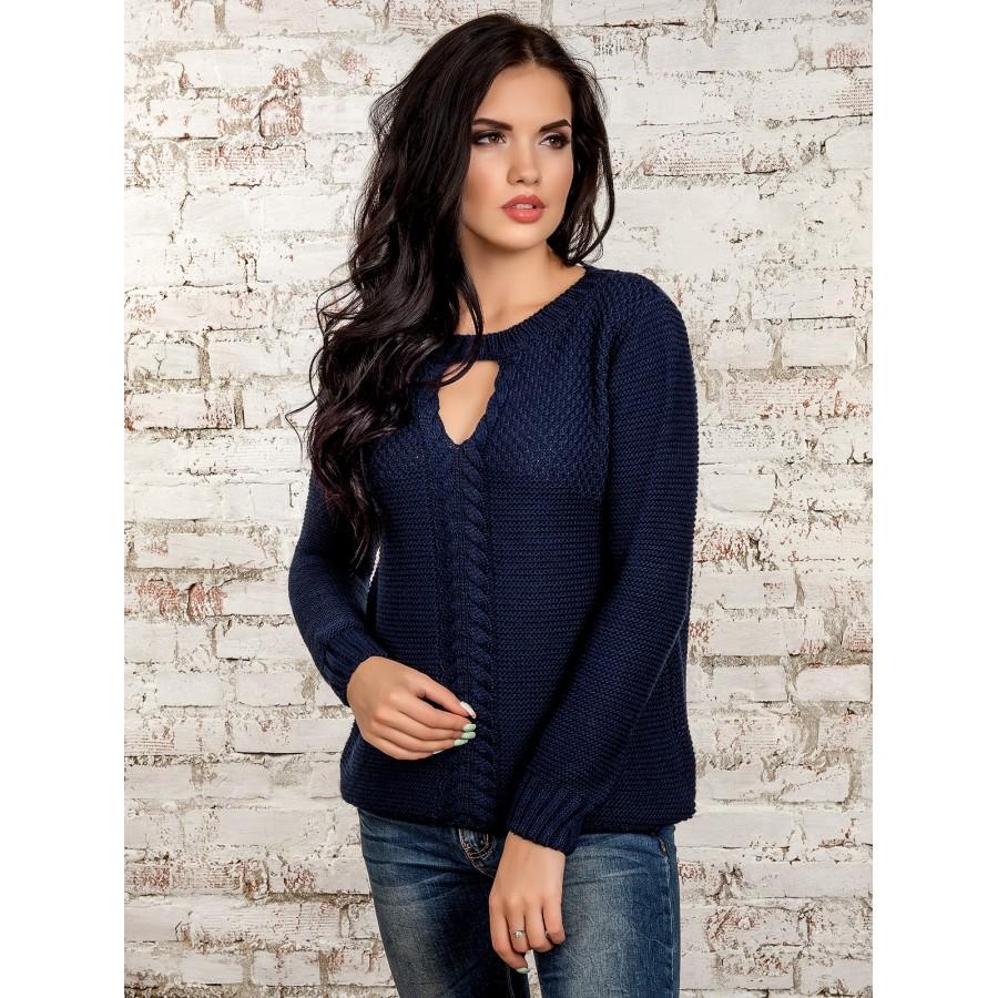 Жіночий красивий вязаний джемпер - Товари - Купити стильні сукні ... 1ef23dbd01647