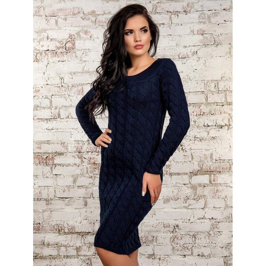Жіноче в язане плаття - Товари - Купити стильні сукні 6cbc6ee804306