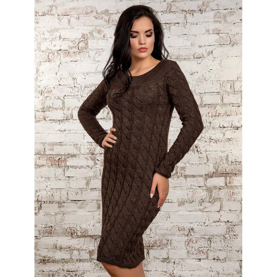 Жіноче в язане плаття - Товари - Купити стильні сукні f00afda9a60ad