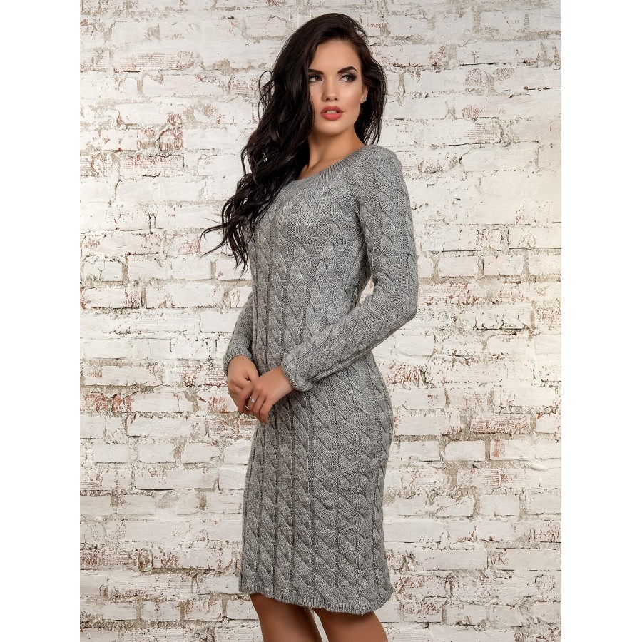 Жіноче в язане плаття - Товари - Купити стильні сукні 1a8ac6a5b9484