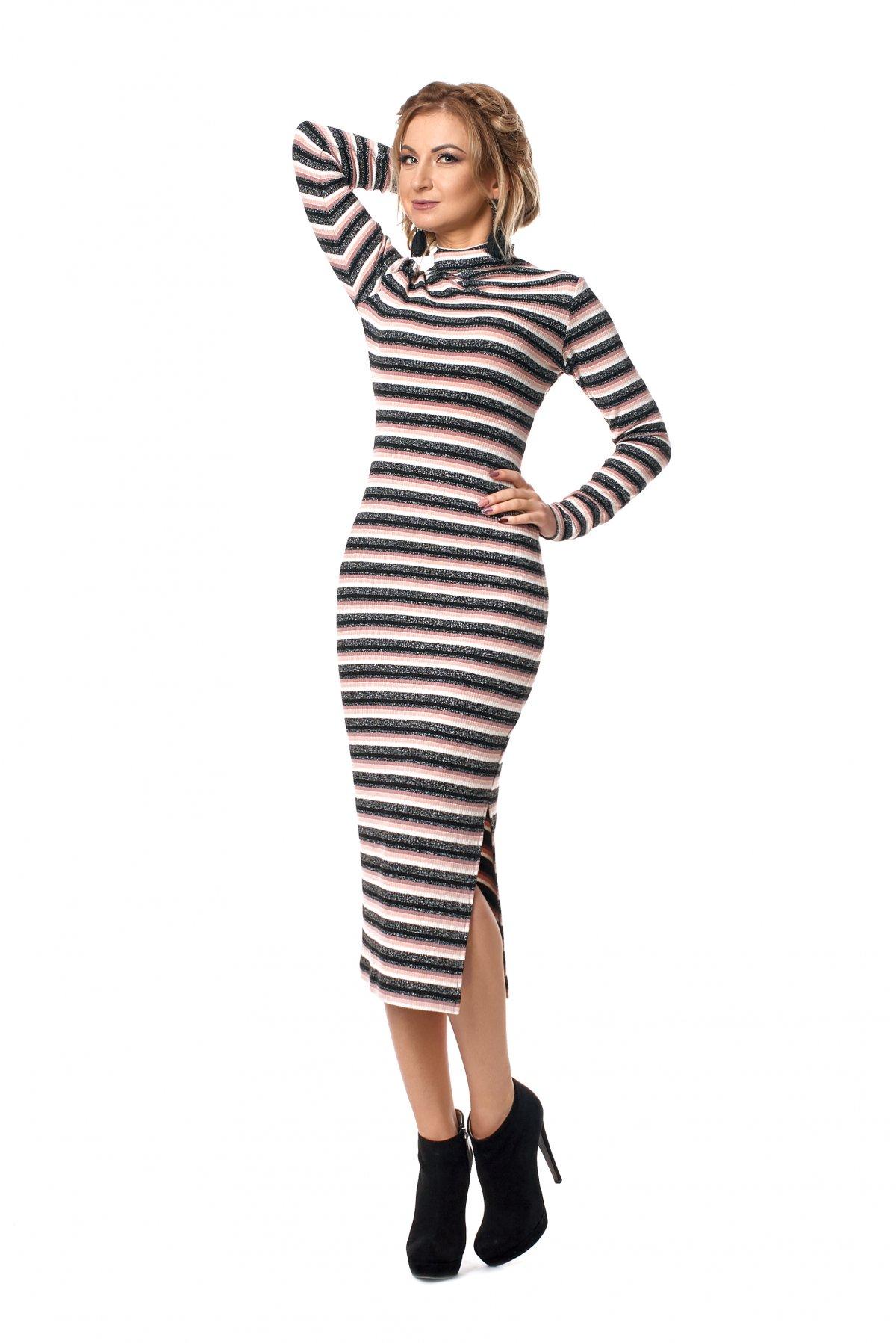 b1cc01dee6a8f1 Жіноче трикотажне плаття в смужку 1028 - Товари - Купити стильні ...