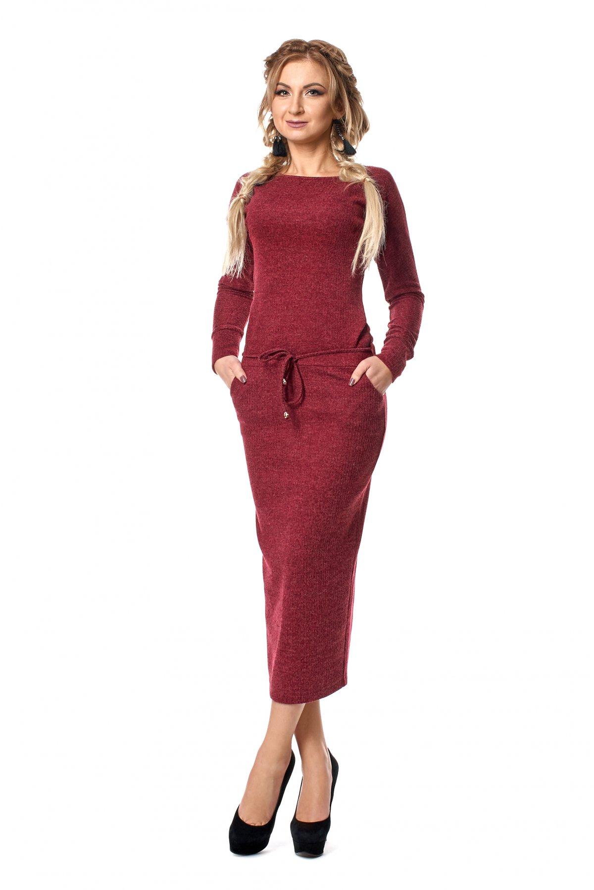 Жіноче тепле трикотажне плаття 1024 - Товари - Купити стильні сукні ... 380e499bf5898