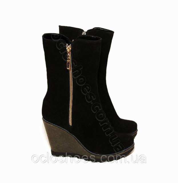 Короткі зимові жіночі чоботи на платформі (black) - чорні ціна ... ec295c4e94da3