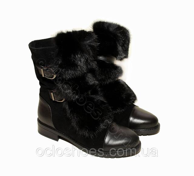 Зимові жіночі чоботи з хутром кролика (black) - чорні 42f0afd22e6de