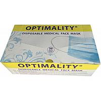Лицевая маска, Optimaliti.Медична, 3-х слойная на резинках