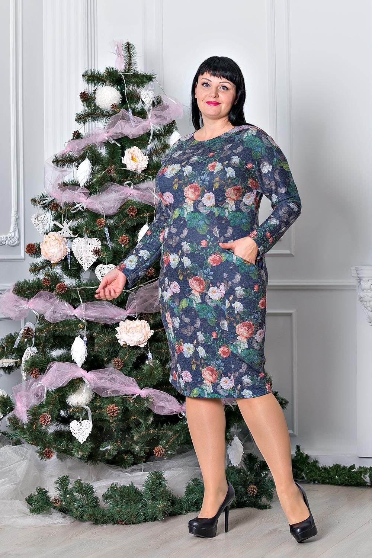 Жіноче тепле плаття великі розміри М320 - Товари - Купити стильні ... f50d620789af8