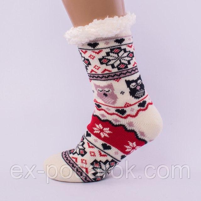 63848ae904f341 Новорічні теплі домашні напівшерстяні тапочки-шкарпетки. ціна ...