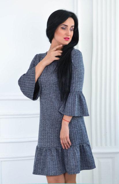 Жіноче трикотажне плаття 201 - Товари - Купити стильні сукні ... ae9432684e3fa