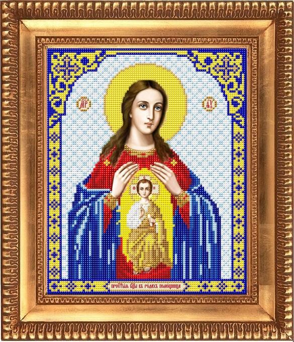 Заготовка для вишивки ікони Пр Богородиці Помічниці при пологах ... 70ae720dbd26b