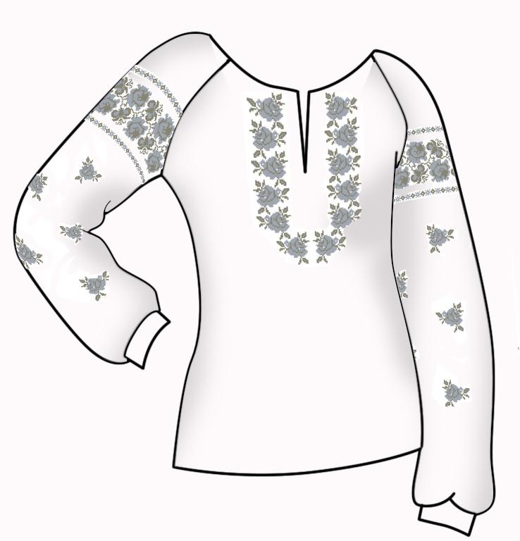Заготовка для вишивки жіночої сорочки СЖ - 57. loading... Наведіть курсор a77d8c6c45439