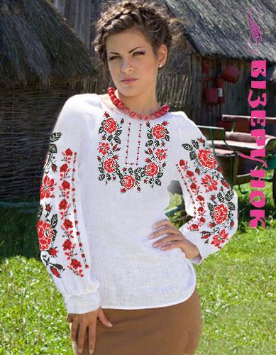 Заготовка для вишивки жіночої сорочки СЖ - 3 - Товари - Схеми для ... b339c5eeaba58