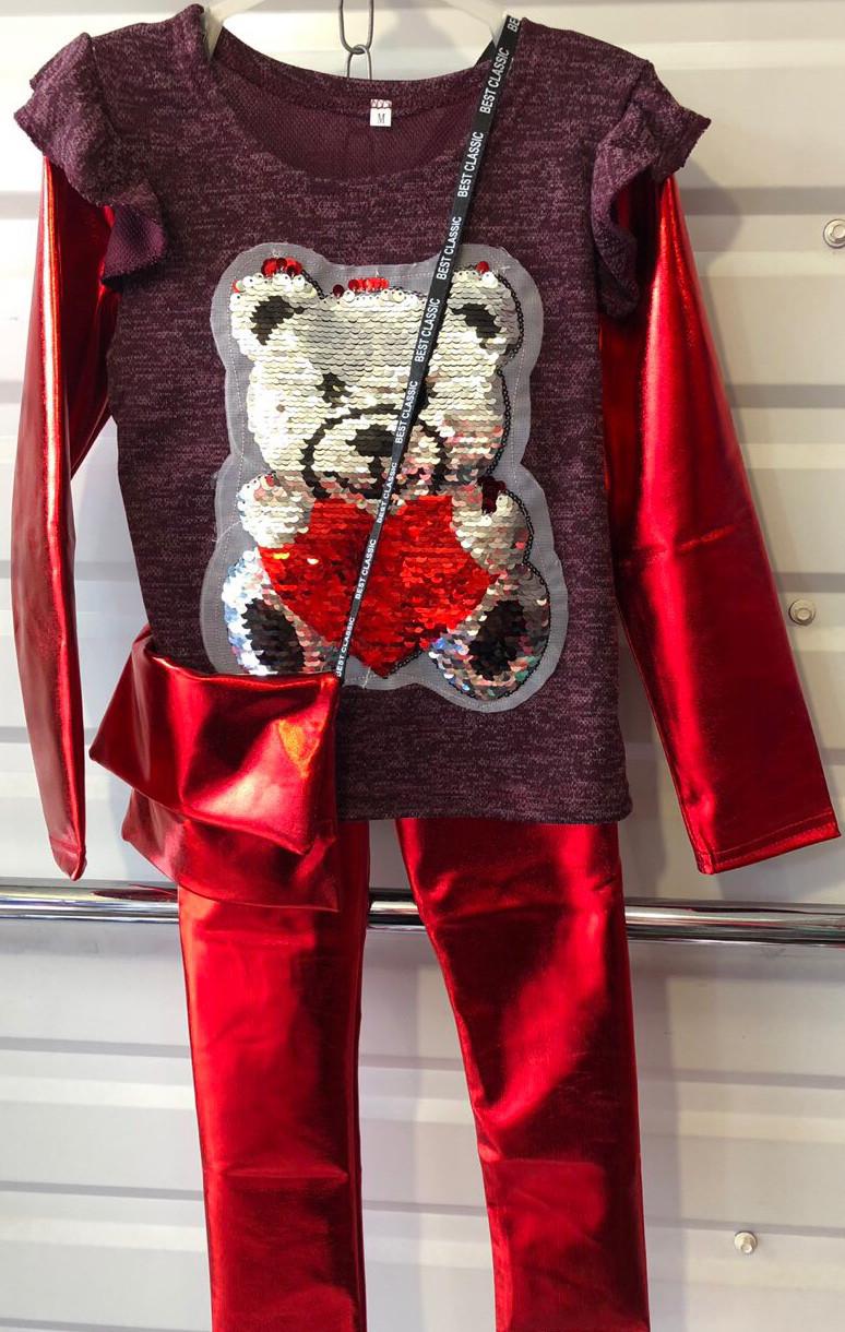 Дитячий спортивний костюм оптом 3-7 років червоний - Товари ... 863a35c50dca8