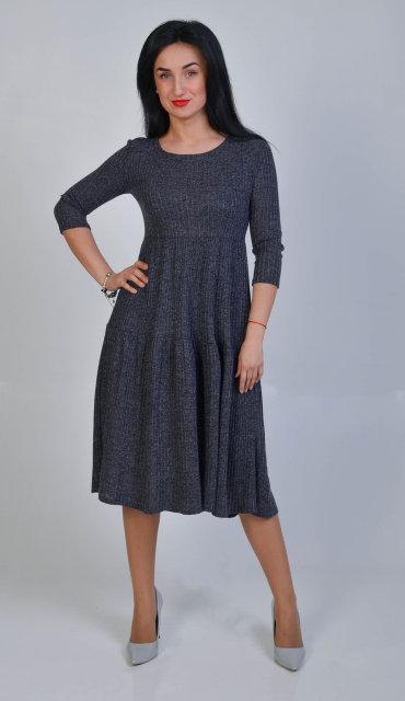 Жіноче вільне трикотажне плаття 213 - Товари - Купити стильні сукні ... b2aa949650b41