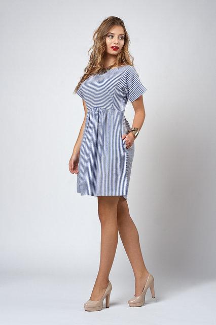 Жіноче літнє плаття в смужку 556 - Товари - Купити стильні сукні ... 9ec1a1262a57f